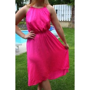 Pink Formal High-Low Dress